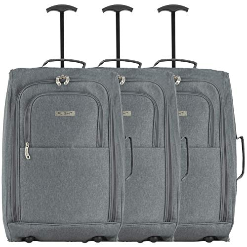 Flight Knight Set of 3 55x40x20cm Ryanair, Vueling, Emirates Maximium Carry On Suitcase Size for Hand Luggage