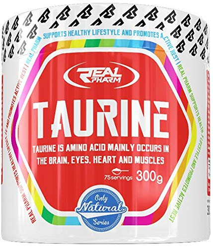 Real Pharm Taurine 300g | 75 Servings | Amino Acid Mainly Occurs in The Brain, Eyes, Heart and Muscles