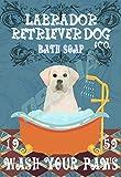OSONA Labrador Retriever Dog & Co. Bath Soap Wash Your Pans Retro Nostalgic Traditional Rust Color Tin Logo Advertising Striking Wall Decoration Gift