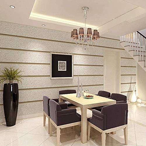 Horizontale strepen Behang voor muren 3D Suède Niet-geweven stof Moderne woonkamer Bank TV Achtergrond Behang Woondecoratie T Licht Khaki