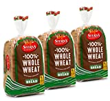 100% Whole Wheat Bread Sliced - 3 Pack - 16 oz per Loaf | Delicious Sandwich Bread | Kosher Bread |...