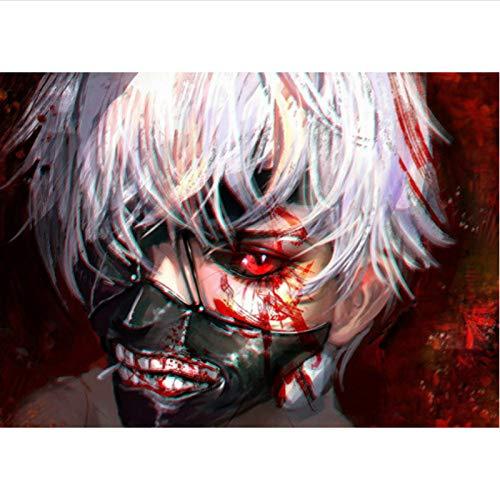 yitiantulong Póster De Lienzo Japonés Clásico Anime Blood Corpse Body Tokyo Ghoul Gourmets Kaneki Ken Mascarilla Dormitorio Pintura Pared Arte T-576 (40X60Cm) Sin Marco