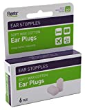 Flents Ear Stopples Soft Wax-Cotton Ear Plugs/Earplugs | 6 Pair (Pack of 2) | NRR 22