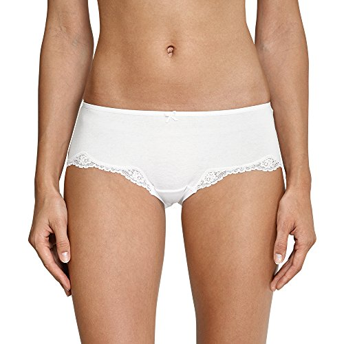Schiesser Damen Bikini Hipster Bikinislip, Weiß (Weiss 100), 42