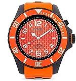 KYBOE! Reloj de cuarzo para hombre de acero inoxidable y silicona, 55 mm, color negro