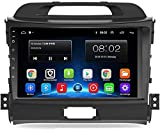 Androide 9.0 Pantalla táctil Coche Radio GPS Multimedia Navegador Sistema Ajuste para KIA Sportage 2011-2015 Mapa Actualizaciones Posterior Cámara Apoyo WiFi USB BT 4G,1+16G WIF
