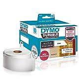 Dymo 1933081 LW Hochleistungs-industrieetiketten (für LabelWriter-Etikettendrucker, weißes Polyester, 25mm x 89mm) 2Rollen mit 350 Etiketten