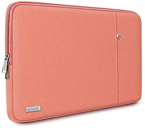 TECOOL Custodia Portatile per 13 Pollici MacBook Air/PRO, 13,5 Surface Laptop, 14'' Lenovo Flex 5/Yoga C740, 14 Pollici Ultrabooks Sleeve Laptop Borsa Protettiva Completa, Arancia