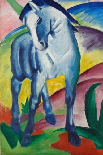 Blue Horse I, Franz Marc. Ruled journal: 160 Lined / ruled pages, 6x9 inch (15.24 x 22.86 cm) Laminated. (Notebook, composition book)