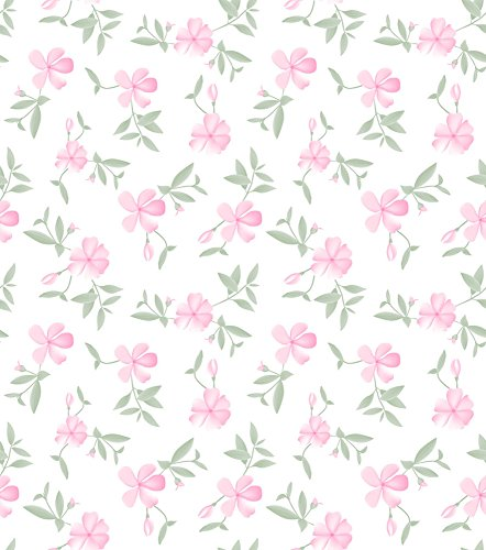 Papel de Parede, Floral, Rosa, 1000x52 cm, Bobinex Uau