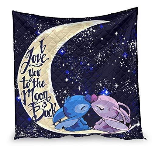 YshChemiy Stitchy Moon Kiss - Funda de edredón de algodón para silla de cama, ligera, de secado rápido, color blanco 100 x 150 cm