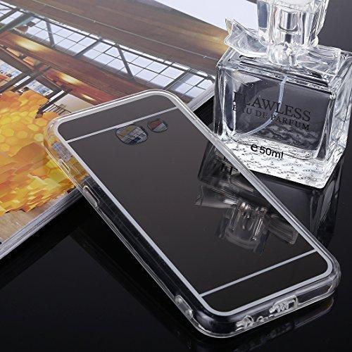 Estilo de bajo perfil del teléfono de silicona Caja del teléfono for Samsung Galaxy A5 (2017) Acrílico + TPU Espejo galvanoplastia Funda protectora Funda duradera Nuevo Shell populares Estilo del telé