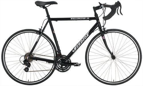 Windsor Wellington 2.0 Aluminum 21 Speed Road Bike (Black, 50cm)