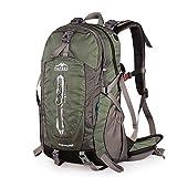 TOPSKY アウトドアスポーツ 防水 キャンプ ハイキング 内部フレームバックパック 40L 50L ユニセックス 軽量 旅行用デイパック レインカバー付き