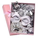 Haarbögen für Mädchen Baby,Schleifen Haarspangen 10 stücke Multistyle Haarschmuck Set mit Geschenkbox für Baby Mädchen Kinder Party Foto Requisiten und Täglich dekorieren