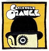【ノーブランド品】 音楽・シネマ 時計仕掛けのオレンジ  アイロンワッペン 刺繍 パッチワッペン