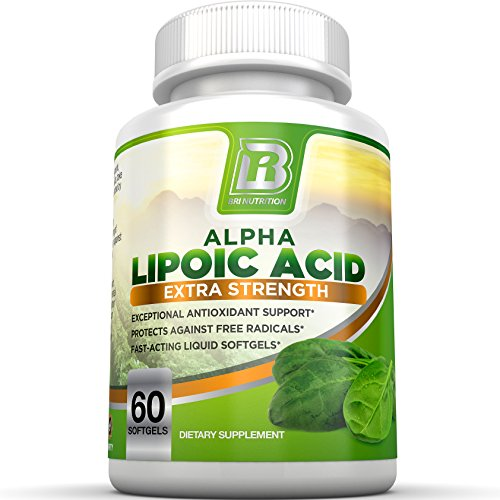 BRI Nutrition Alpha Lipoic Acid - ALA Softgel Combats Free Radical Damage, Supports Healthy Blood Sugar Levels, Promote Healthy Nerve Function - 300mg, 60 Count Fast Absorption Liquid Gels