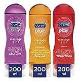 Durex Lubricantes Massage Pack 3 Unidades Aloe Vera + Estimulante + Sensual