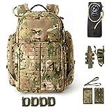 Akmax.cn Tactical Pack, 72 Stunden Molle Rucksack, Abenteuerrucksack, Bug Out Bag 55L Large Multicam