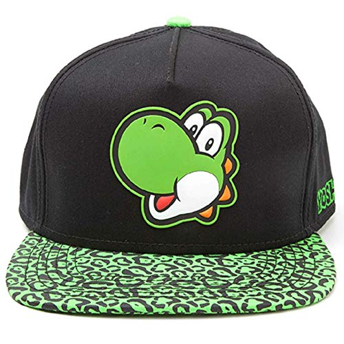 for-collectors-only Yoshi Cap Nintendo Super Mario Snapback with Yoshi Rubber Patch Logo Baseball Mütze Schirmmütze