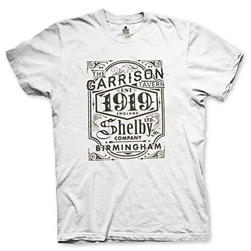 Peaky Blinders - T-Shirt The Garrison Tavern Birmingham Shelby Company dalla Serie TV Maglia Maglietta – Ufficiale Originale (Bianco, XX-Large)