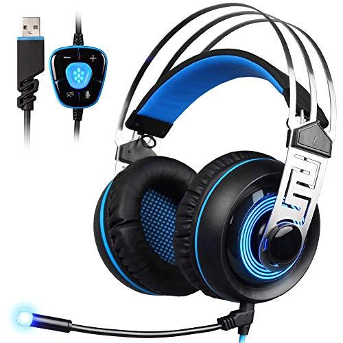 EPMR Headphones, E-sports gaming headsets, head-mounted 7.1-kanaals luisteren audio USB desktop computer headset, met microfoon, geschikt voor professionele gaming