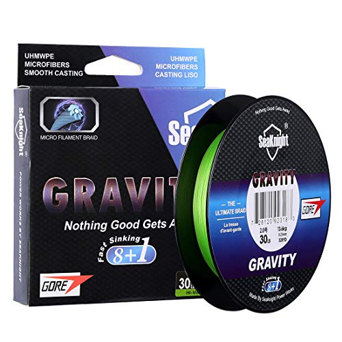 SeaKnight Gravity G9 9 Stränge geflochtene Angelschnur schnell sinkend 150 m/300 m Multifilament PE Schnüre 8 + 1 Fülldraht glatt Salzwasser lang werfen Meeresangeln Karpfenangeln