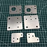 JRUIAN 3D Printer Parts, 1set X5S 3D Printer Aluminum Alloy Upgrade Plate Pulley Plate Eccentric Spacer Version Y Gantry Carriage Kit 3MM Thciness (Size : ABC) (Size : ABC)
