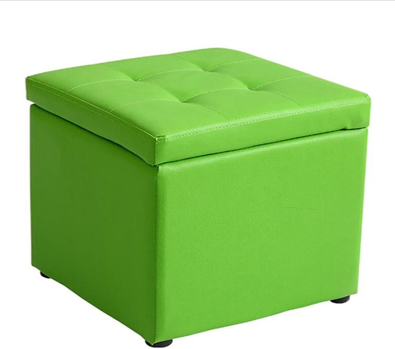 HQCC DLDL Multifunctional Simple Sofa Stool Home Storage Stool 40  40  40cm (color   Green)