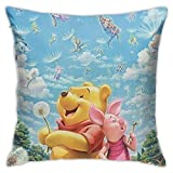 wuhandeshanbao Pillow Cover Cover Winnie The Pooh Quotes Decorative Pillow Case Sofa Seat Car Pillowcase Soft 18x18 Inch