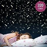 Wandkings Leuchtaufkleber - Sterne & Sternschnuppen - 320 einzelne Aufkleber