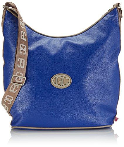 poodlebag® German Couture-bicolor-Hobo Damen Umhängetaschen 30x10x40 cm (L x B x H) doppeltfarbig blue/stone 3GC0115HOBOBS