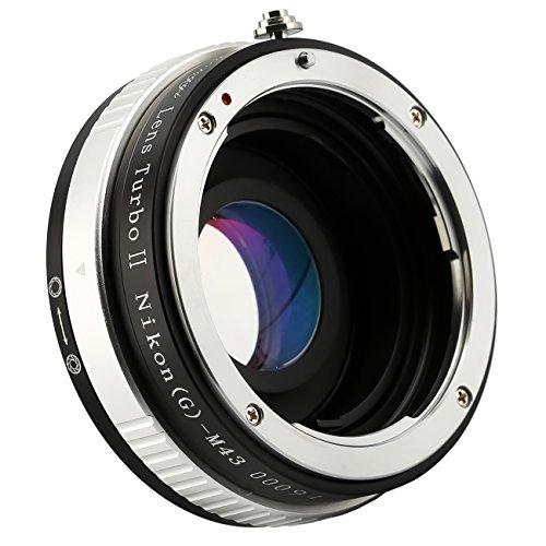 Zhongyi Lens Turbo II 0,72x Speed Booster für Nikon F Mount (G) Objektiv an Micro Four Thirds M 4/3Olympus Panasonic Kamera