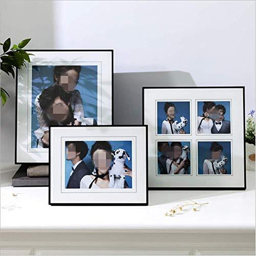 El marco creativo de la foto del oscilación de madera sólida del hogar el marco moderno de la foto del vidrio cristalino de la protección del medio ambiente se puede personalizar 5 * 10 pulgadas