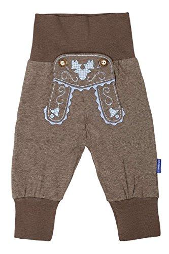 P.Eisenherz Baby - Jungen Baby Schlupfhose im Lederhosenstil braun blau, braun/blau, 74/80