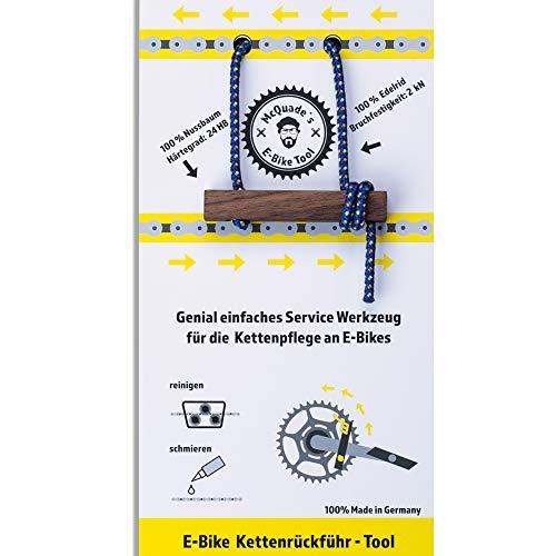 lamaki McQuade's E-Bike Tool | genial einfaches Service Werkzeug für die Kettenpflege an E-Bikes | erlaubt das Rückwärtsdrehen der Kette | kein Fahrrad Montageständer notwendig