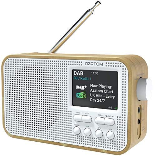 AZATOM Aspire DAB/DAB+ FM Portable Radio/Alarm/Battery/Dual...