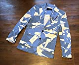 LEON掲載 新品 定価71500円 AKM KARAMI JERSEY 2B JACKET J160 CTN192 迷彩 からみ テーラードジャケット エイケイエム L ブルー