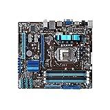 WWWFZS Placa Base De La Computadora Ajuste para La Fit For ASUS P7H55-M LGA 1156 DDR3 para I3 I5 I7 CPU 16GB H55 Placa Base De Escritorio Computer Motherboard