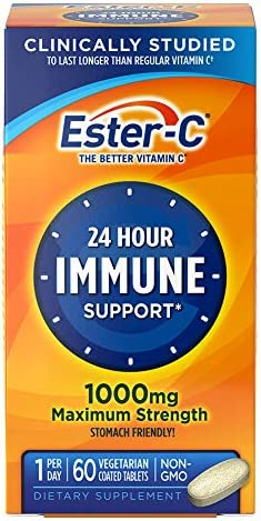 Ester-C Vitamin C, 1,000 mg, 90 Coated Tablets