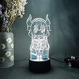 3D Anime Night Light Kawaii Figurine Laser Engraved Acrylic LED Upward Lighting Room Deco Birthday Xmas Valentine's Day Gift Idea for Boys and Girls MAGY