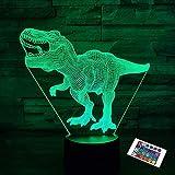 Dinosaurier-Geschenke, T Rex 3D-Nachtlicht 16 Farben, die