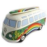 Banco de cerámica alcancía 'Volkswagen'multicolor verde.