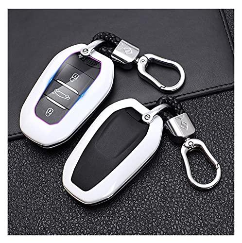 ZHANGXIN XINGSTOR Tenedor de la Cubierta de la Cubierta Key Fob Case 5008 DS5 DS6 Fit para Peugeot 208 DS3 Fit para Citroen C4 C5 X7 C4L C6 C3-XR 3008 4008 Llavero (Color Name : White)