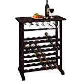 Winsome Wood Vinny 24-Bottle Wine Rack, Espresso, Multiple Finishes (1 Pack)