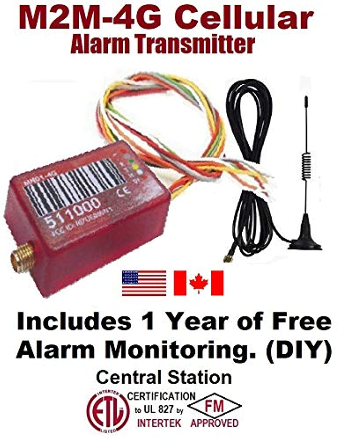 VirtuAlarm M2M-4G Cellular Alarm Transmitter with Free Alarm Monitoring Included.