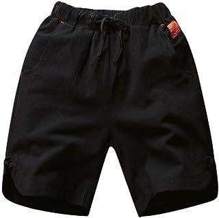 2298ac48bc Voberry@ Men's Linen Casual Shorts Elastic Waist Drawstring Lightweight  Summer Short Pants ...