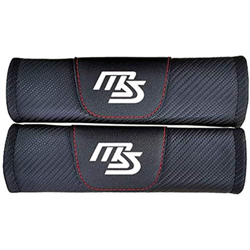 WMAID 2pcs Car Seat Belt Padding Protection Covers, For Mazda Cx3 Axela Cx5 Cx7 Demio Mx5 C-x9 Ms, Auto Safety Shoulder Strap Cushion Cover Pads