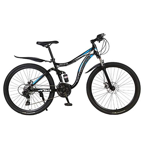 Mountain Bike Uomo Biammortizzata,Bici Da Strada 26 Pollici Pneumatici Adulto Donna,Velocità Biciclette Da Strada Catena Freni A Disco Ragazzi Blu