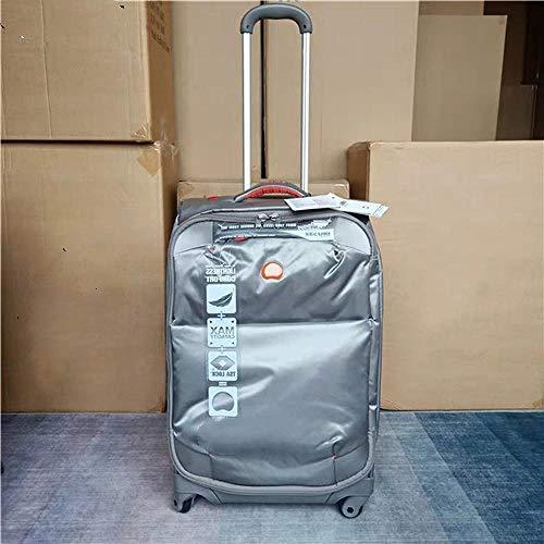 SFBBBO luggage suitcase Ultra-light trolley suitcase waterproof rolling luggage boarding box fashion travel suitcase on wheel 24' silvergrey